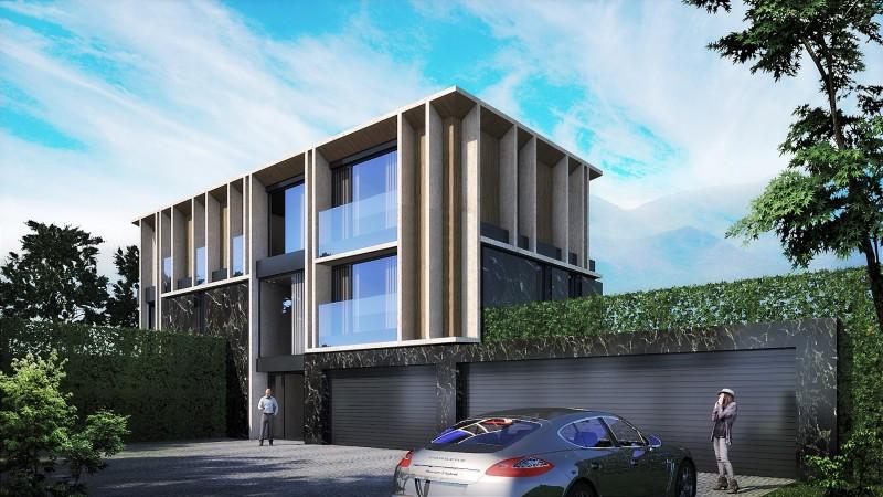 Еднофамилни жилищни сгради с гаражи и басейн